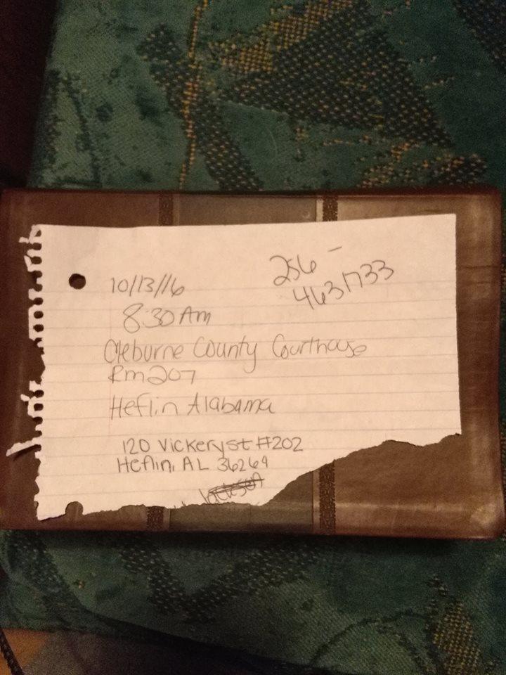 hand written pickup order